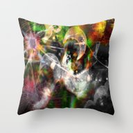 Throw Pillow featuring Dreaming...glitches by Sarah Maurer