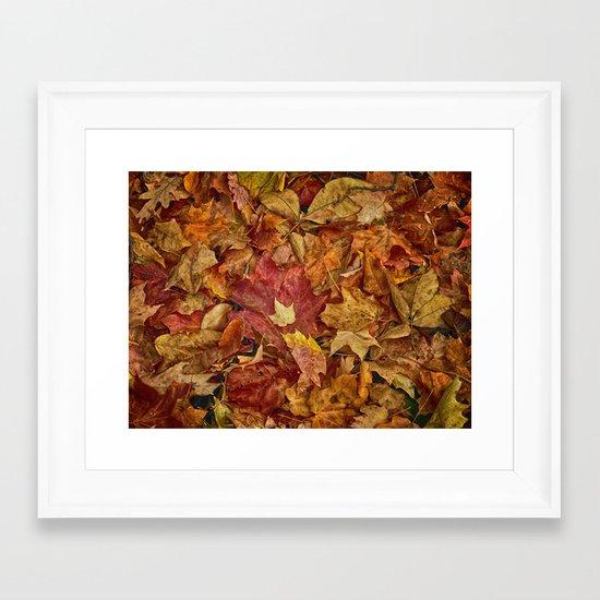 Falls textures Framed Art Print