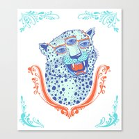 Cat Glasses Canvas Print