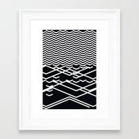 defragmentation Framed Art Print