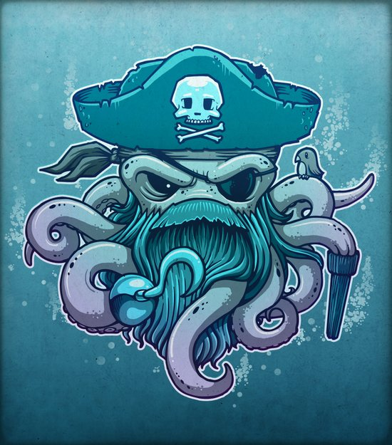 The Legendary Arrrctopus Canvas Print
