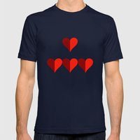 Hearts Mens Fitted Tee Navy SMALL