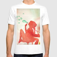 Desk Daydream Mens Fitted Tee SMALL White