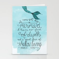 Mermaid Quote Stationery Cards