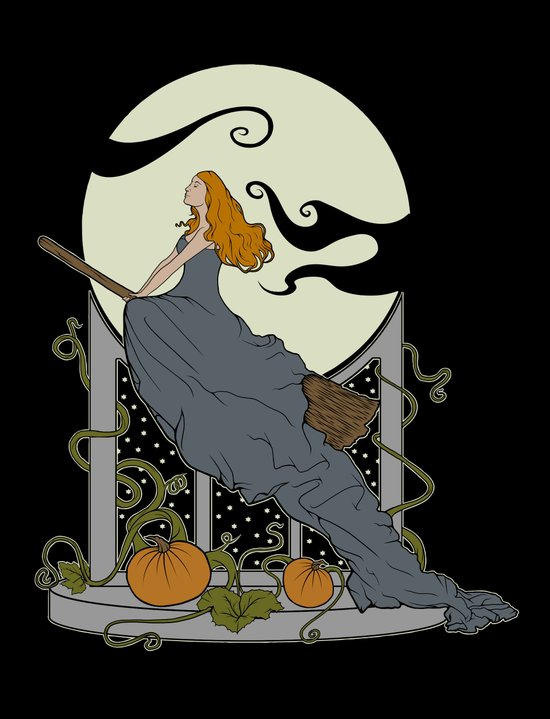 Halloween Nouveau Art Print