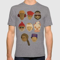 Wes Anderson Hats Mens Fitted Tee Tri-Grey SMALL