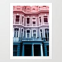 Houses in Portobello Art Print