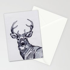 Oh My Deer Black and White Stationery Cards