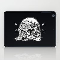 Skullflower Black and White  iPad Case
