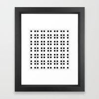 Domino pattern Framed Art Print