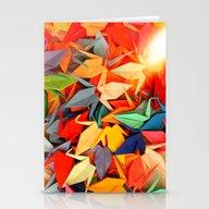 Senbazuru Rainbow  Stationery Cards