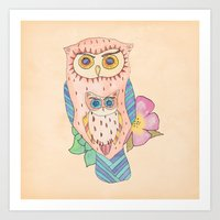Southwest Owls Art Print