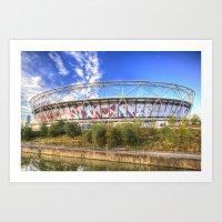 West Ham Olympic Stadium London Art Print