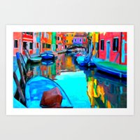 Colors In Venice - Paint… Art Print