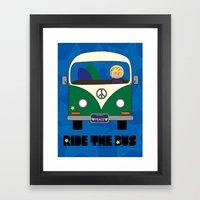 Ride the Bus - Boy Framed Art Print