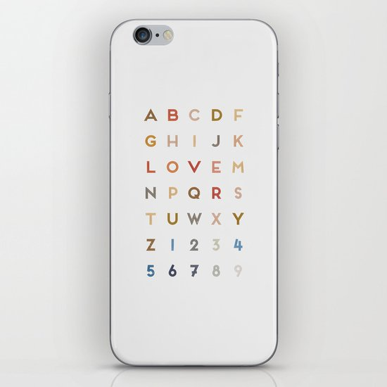 Letter Love - Color iPhone & iPod Skin
