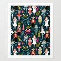 Nutcracker Ballet by Andrea Lauren  Art Print
