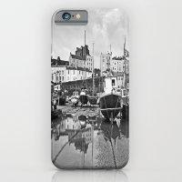 Tenby Harbour Boats.Pembrokeshire.B+W. iPhone 6 Slim Case