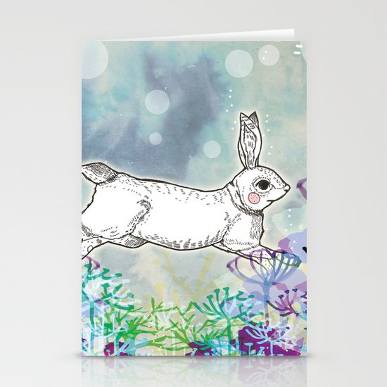 Rabbit Stationery Card