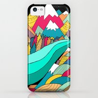 iPhone 5c Cases featuring River in the mountains by Steve Wade
