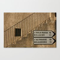 Way to the Island Canvas Print