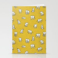 indian baby elephants Stationery Cards