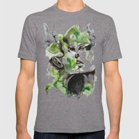 Kiss By Carographic Mens Fitted Tee Tri-Grey SMALL