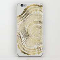 Gold Tree Rings iPhone & iPod Skin