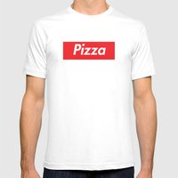 Supreme Pizza Mens Fitted Tee White SMALL