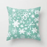 Snowflake Pond Throw Pillow