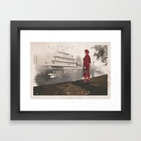 At the waters edge Framed Art Print