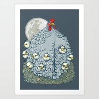Hen Ship Art Print