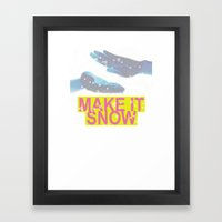 make it snow Framed Art Print
