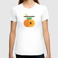 Fruit: Persimmon Womens Fitted Tee White SMALL
