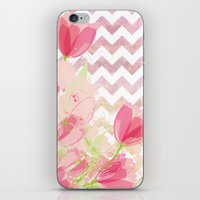 Chevron Tulips iPhone & iPod Skin