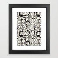 Faces In The Tube Framed Art Print