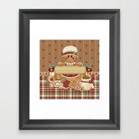 Gingerbread Country Christmas Framed Art Print
