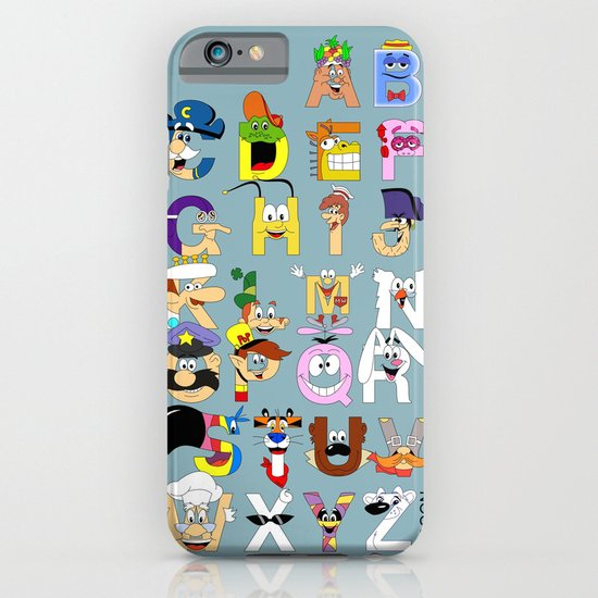 Breakfast Mascot Alphabet iPhone & iPod Case