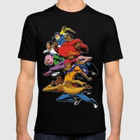 Fat Albert and the gang Mens Fitted Tee Black SMALL