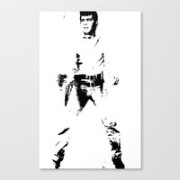 FPJ Black And White Canvas Print