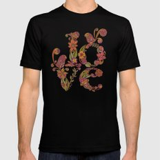Love Mens Fitted Tee Black SMALL