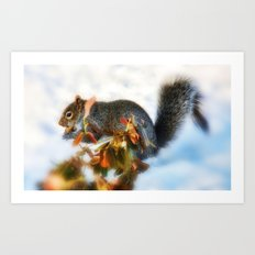 Hunting for Food  Art Print