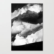 State of black and white isolation Canvas Print