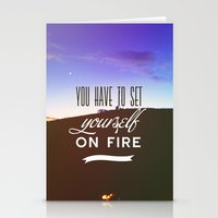 You Have To Set Yourself… Stationery Cards
