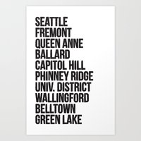 SEATTLE CITIES Art Print