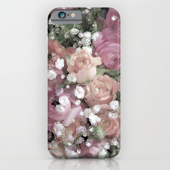 vintage pastel flowers iPhone & iPod Case