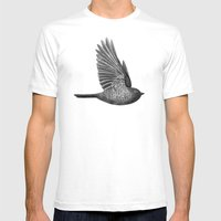 Night Bird Mens Fitted Tee White SMALL