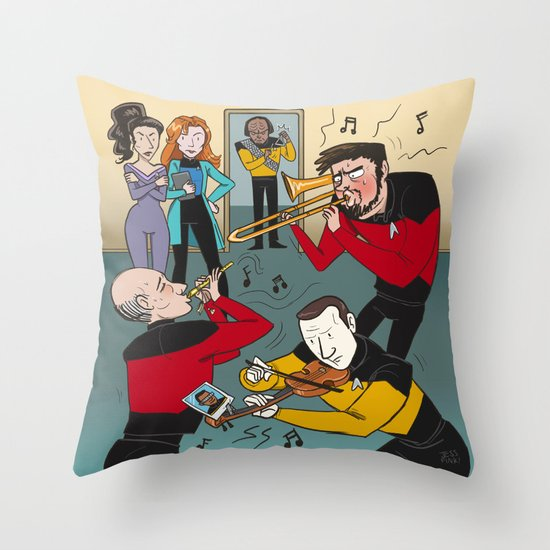 Star Trek Jam Band Throw Pillow