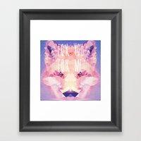 Fox You, Fox Me Framed Art Print