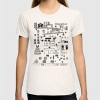 Retro Arcade Mash Up Womens Fitted Tee Natural SMALL